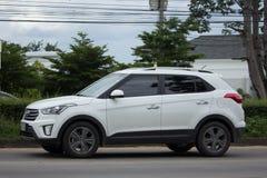 Intymny Hyundai Tucson Seksowny SUV samochód od Korea Zdjęcia Stock