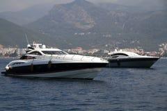 Intymny luksusowy jacht Zdjęcia Royalty Free