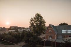 Intymny mały dom w obrzeżach Orenburg miasto Fotografia Royalty Free