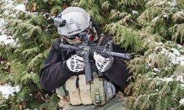 Intymny militarny kontrahent Obraz Stock