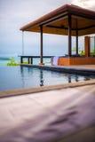 Intymny pływacki basen od luksusowego willa stylu Zdjęcia Stock