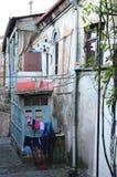 Intymny podwórze w starym miasteczku w Tbilisi Fotografia Stock