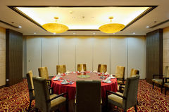 intymny restauracyjny pokój Fotografia Royalty Free