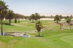Intymny Rossmund pustyni pole golfowe Swakopmund, Namibia Obraz Royalty Free