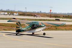 Intymny samolot przy Hiller lotnictwa muzeum Obrazy Royalty Free