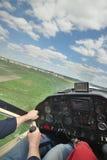 Intymny samolot w locie obrazy royalty free