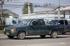 Intymny stary Pickup samochód, Toyota Hilux Możny X obrazy stock