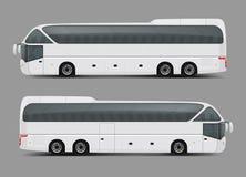 Intymny statusu trenera lub wycieczki turysycznej autobusowy realistyczny wektor Zdjęcie Royalty Free