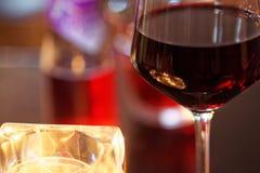 Intymny szkło wino Obraz Royalty Free