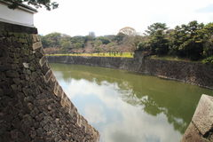 Inui moat of Edo castle in Tokyo Stock Photography
