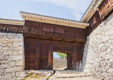 Inui (Northwest) Gate of Matsuyama castle, Japan Stock Photos