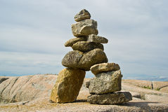 Inuit Inukshuk Stock Photo