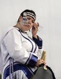 inuit piosenkarza gardło Obraz Royalty Free