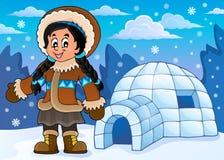 Inuit theme image 4 Royalty Free Stock Images