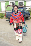 Inuit Woman in Greenland Royalty Free Stock Images