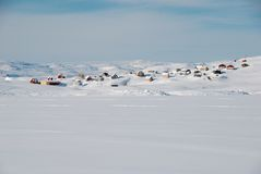Inuitdorf stockfotos
