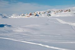 Inuitdorf Lizenzfreies Stockfoto