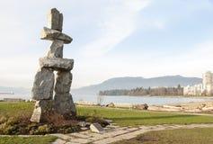 Inukshuk à Vancouver Photo libre de droits