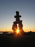 Inukshuk. The Olympic symbol of the 2010 Winter Olympic Games in Vancouver, Canada stock photo