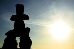The Inukshuk. In Vancouver Stock Photos