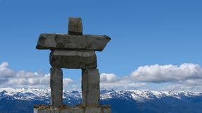 Inukshuk. Symbol of the 2010 Winter Olympics, to be held in Vancouver, Canada Stock Photography