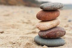 岩石平衡, inukshuk 免版税库存照片