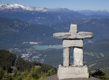 Inukshuk on Blackcomb Mountain Stock Photo