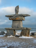 Inukshuk a Churchill, Manitoba, Canada Fotografie Stock Libere da Diritti