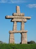 Inukshuk gigante Imagem de Stock