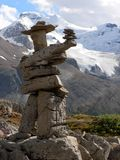 Inukshuk and Glacier Royalty Free Stock Image
