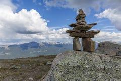 Inukshuk - Jasper National Park, Canada Royalty Free Stock Photography