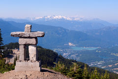 Inukshuk, siffleur, Canada Images stock