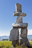 Inukshuk in Stanley Park Stock Photography