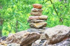 Inukshuk staplade stenen Arkivfoton