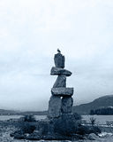Inukshuk statue by English Bay Stock Photography