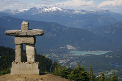 Inukshuk Statue in the Mountains Royalty Free Stock Photo