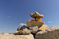 Inukshuk stones Royalty Free Stock Images