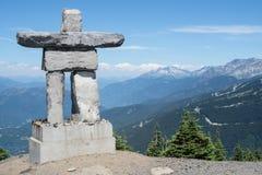 Inukshuk sulla montagna di Whistler Fotografia Stock