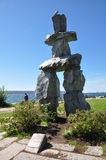 Inukshuk, Vancouver, British Columbia, Canada.  stock photography