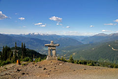 Inukshuk at Whistler Blackcomb Mountain Stock Images