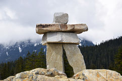 Inukshuk, Whistler Olympic Park, Canada Royalty Free Stock Image