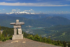 Inukshuk the Winter Olympic mascot at Whistler Montain Royalty Free Stock Photo