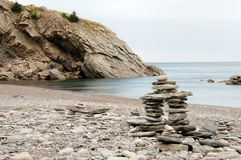 Inuksuk Cairn at Meat Cove - Nova Scotia - Canada Royalty Free Stock Photography