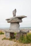 Inuksuk at the Churchill shore Royalty Free Stock Image