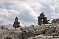 Inuksuk in Yoho National Park Royalty-vrije Stock Foto