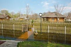 Inundação da mola, Bielorrússia fotos de stock