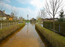 Inundação da mola, Bielorrússia Foto de Stock