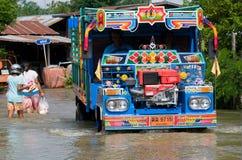 Inundação da monção em Tailândia Fotografia de Stock