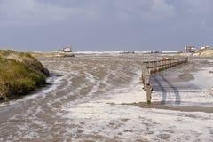 Inundação da tempestade Foto de Stock