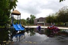 Inundação 2013 de Calgary Foto de Stock
